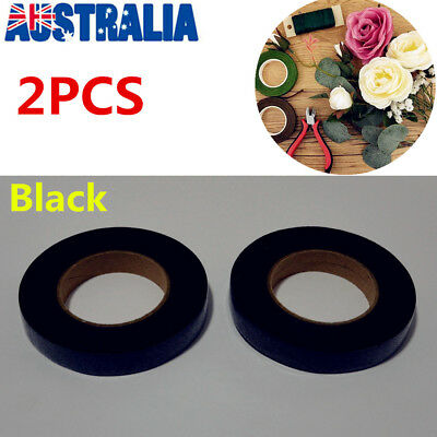 2X Florist Floristry Floral Stem Tape 12mm Colour Self-sealing Corsages Craft OZ