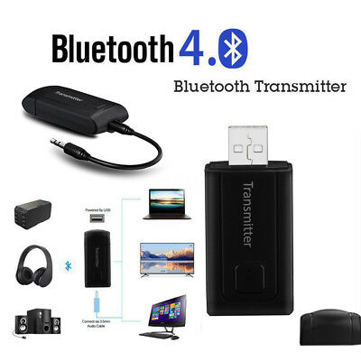Wireless Bluetooth Transmitter Stereo Audio Music Adapter For TV Phone PC MP3/4