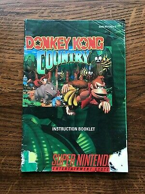 Donkey Kong Country SNES Super Nintendo Instruction Manual Only