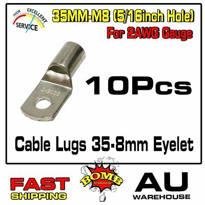 35MM² Cable Copper Lugs 35-8mm Hole Eyelet Rings Battery Wire Connector Terminal