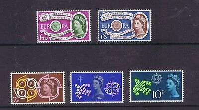GB Great Britain 1960 and 1961 Europa CEPT sets unmounted mint MNH