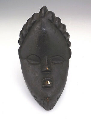 Antique African Tribal Art - Patinated Hand Carved Wood Mask - Unusual!
