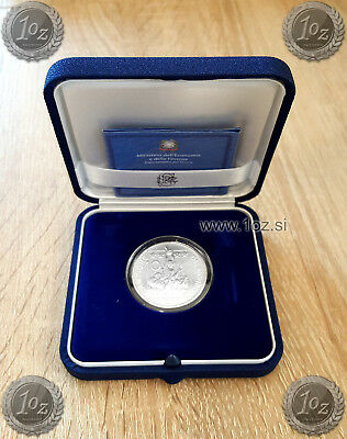 ITALY 10 EURO 2006 ( WORLD CUP SOCCER WINNER ) SILVER Comm. Coin PROOF / BOX