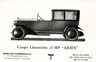 """Coupe Limousine 15 HP """"ARIES"""""""