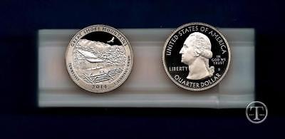 2014 S Clad Proof Smoky Mountains National Park Quarter Roll-Gem Proof-40 Coins