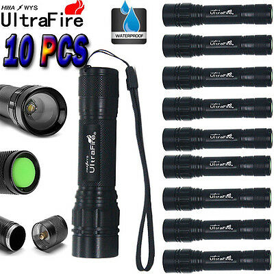 10pcs 15000LM Flashlight 3Mode T6 LED Zoomable Torch Lamp Light Camping!