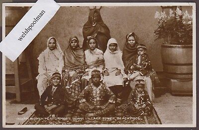 Vintage 1930's Indian Women Performers Indian Village Blackpool Lancashire