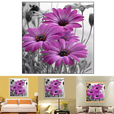 Modern Picture Daisy Flower Wall Art Diamond Painting Craft Kit Home Decor