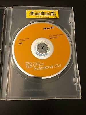 Microsoft Office 2010 Professional (Retail - 1 User/1 PC) DVD + Product Key