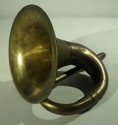 antikes MESSINGHORN Oldtimer Hupe Fanfare Trompete Instrument ?