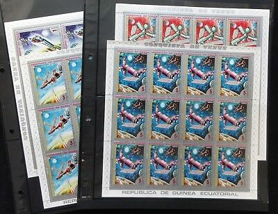 Guinea Equatorial 1972 Venus Space x 12 Sets MNH(84 Stamps)(GU10)