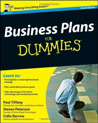 Business Plans For Dummies by Barrow, Colin Paperback Book The Cheap Fast Free