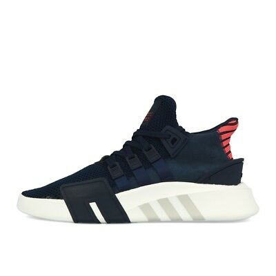 reputable site 2d586 7d719 adidas EQT Bask ADV Navy Navy Real Coral Schuhe Sneaker Blau Koralle Weiß
