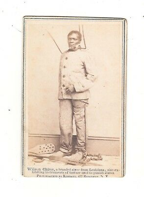 Wilson Chin, Branded Slave Of Louisiana W/torture Tools Cabinet Photo