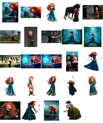 BRAVE MERIDA STICKER WALL DECAL OR IRON ON TRANSFER T-SHIRT FABRICS LOT MF