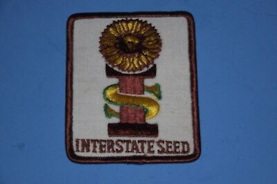 VINTAGE INTERSTATE SEED sunflower HAT JACKET PATCH agriculture farming