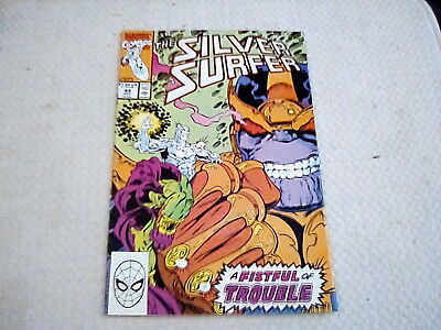 Silver Surfer 44 1st Infinty Gauntlet Thanos Key Issue Marvel Comics 1990