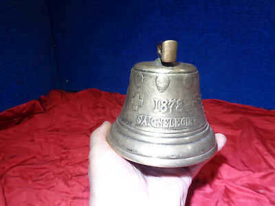 ~*~Estate Find~*~ Antique 1878 Brass Cow Bell   2+Pounds