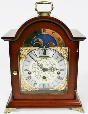 Stunning Franz Hermle Mahogany Musical Chime Moon Phase Regulator Bracket Clock