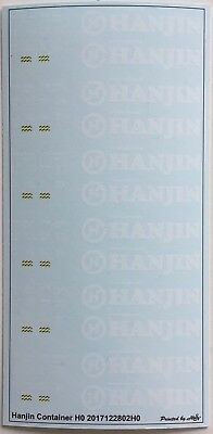 Hanjin Container Decals 1:87 oder H0 (2017122802H0)
