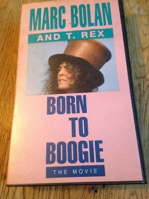 VHS Music Video MARC BOLAN T REX Born to BOOGIE The Movie ..