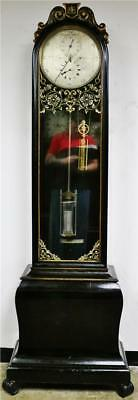 Ultra Rare Antique English Ebonised & Gilt Precision Regulator Longcase Clock