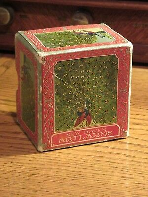 "NEW HAVEN ""TAT-TOO JR."" ARTALARM CLOCK - COLOURFUL BOX ONLY- SCARCE  1920s"