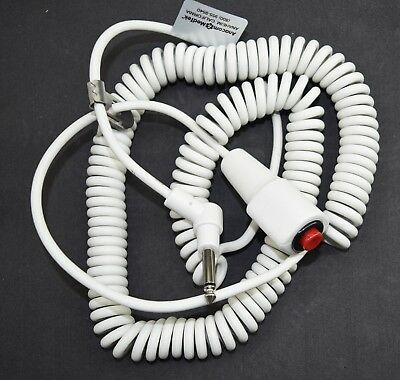 """Hospital Bed Nurse Call Cord Button Hill Rom,Crest,,Ascom,GE, 1/4"""" Jack  12ft"""