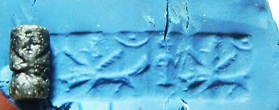 Zurqieh -As8713-  Ancient Holy Land, Canaanite Stone Cylinder Seal. 1400 B.c