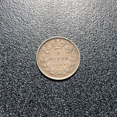 Canada - Silver - 1901 5-Cents R3T3