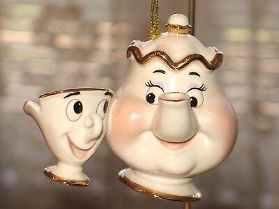 Lenox Disney Beauty and the Beast Mrs. Potts and Chip Ornament New in Box