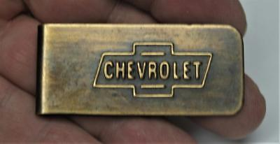 Chevrolet <> Money Clip - FREE SH USA -Brass with Bow-tie Logo New
