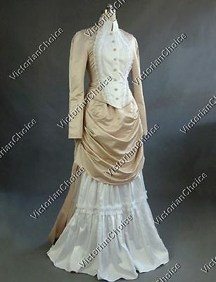 Victorian Bustle Riding Habit Noel Holiday Bridal Gown Dress Clothing N 139 M