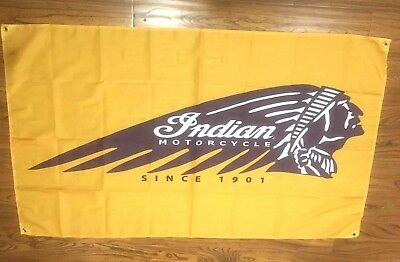 Indian Motorcycle Flag Cloth Sign 3' X 5'