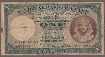 1945 Egypt 1 Pound Note