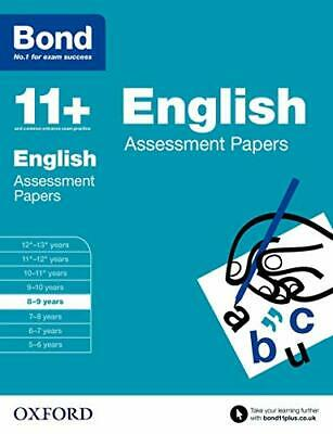 Bond 11+: English Assessment Papers: 8-9 years by Bond 11+ Book The Cheap Fast