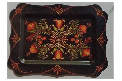 "Arlene Beck lovely tole painting pattern ""Chippendale Tray"""