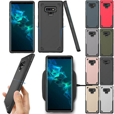 For Samsung Galaxy Note 9 8 Hybrid Rubber Shockproof Rugged Armor Case Cover