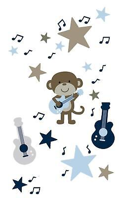 Carter's Wall Decals Nursery Collection Animal Monkey Rockstar
