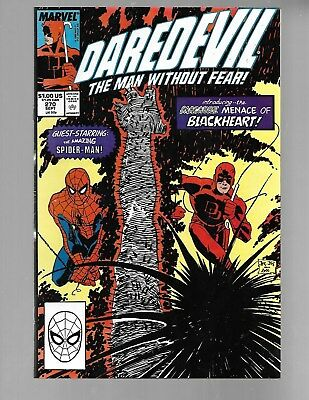 DAREDEVIL Vol.1 #270 1989 with SPIDER-MAN 1st Apperance of BLACKHEART NM 9.4.