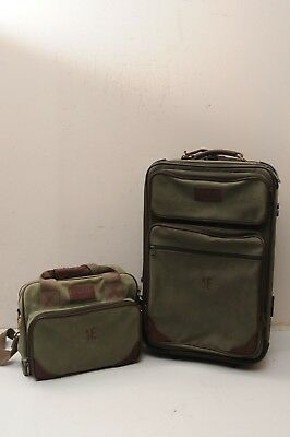 "Lot  Lands End Suitcase Wheeled Luggage 24""  , Carry on Travel Bag  14"""