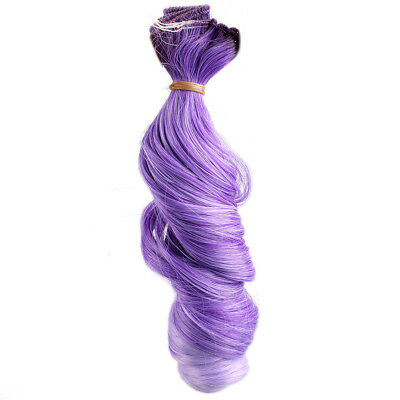 [wamami] Purple Hair Extension Piece DIY Wavy Curly Wig For BJD Doll Dollfie