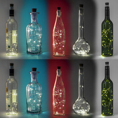 HOT 15 Led Rechargeable Usb Bottle Cork Wire Wedding Xmas Fairy String Lights