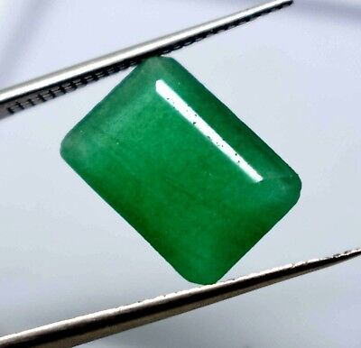 Ggl Certified 6.10 Ct Natural Emerald Cut Vivid Green Emerald Panna Gemstone