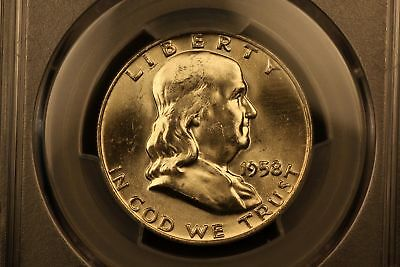 1958-D Franklin Silver 50c MS64 FBL Full Bell Lines PCGS #36084968