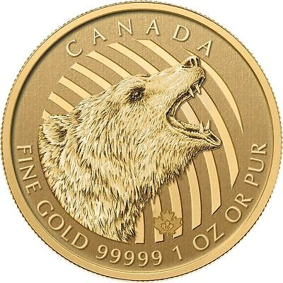 200 Dollar Canada 2016 BU - 1 OZ Gold Grizzly 2016 - Call of the Wild im Blister