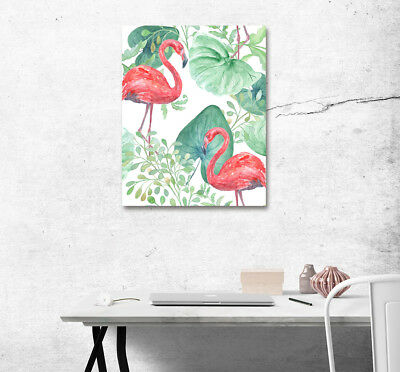 "Tropical Flamingo 16x20"" Wall Art Poster Print On Home Decor New Canvas Painting"