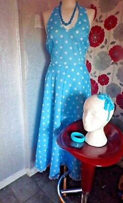 Ex  Hire Rock & Roll Sky Blue & Spot Outfit With Fine Design   Size 16