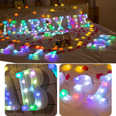 Colorful LED Marquee Letter Lights Vintage Alphabet Light Up Holiday Party Decor
