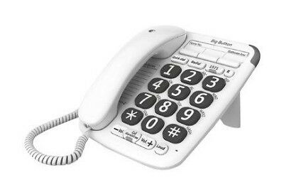 BT Big Button 200 Corded Analogue Telephone 45412 White